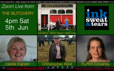 Zoom Live From the Butchery Reading, with Christopher Reid, Lesley Ingram and Kymm Coveney